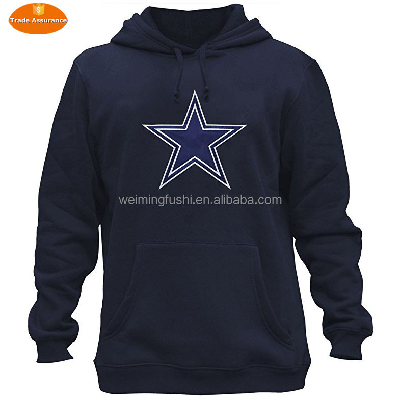 Mens Athletic Football Cowboys Pullover Hoodie