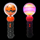 Halloween Toy Led Flashing Pumpkin Magic Spinning Wand For Kids