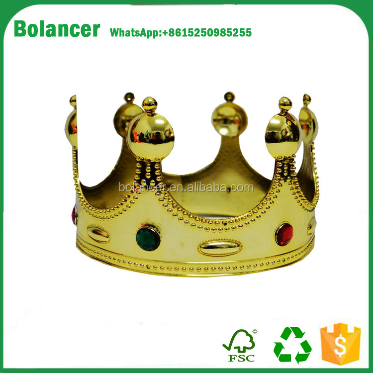 New arrival party plastic cheap king crown
