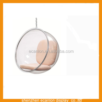 Clear Indoor Hanging Chair Acrylic Hanging Bubble Chair For Sale