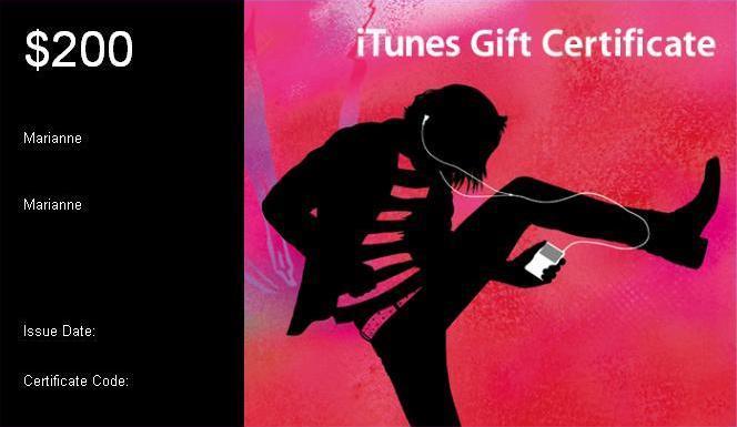 200 $itunes Gift Certificate - Buy 200 $itunes Gift Certificate ...