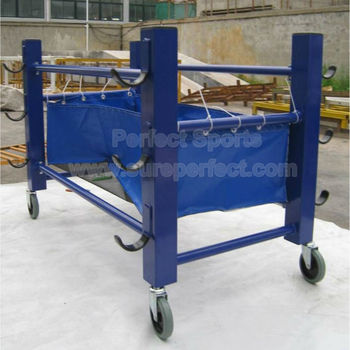 Royal Blue Volleyball Equipment Cart