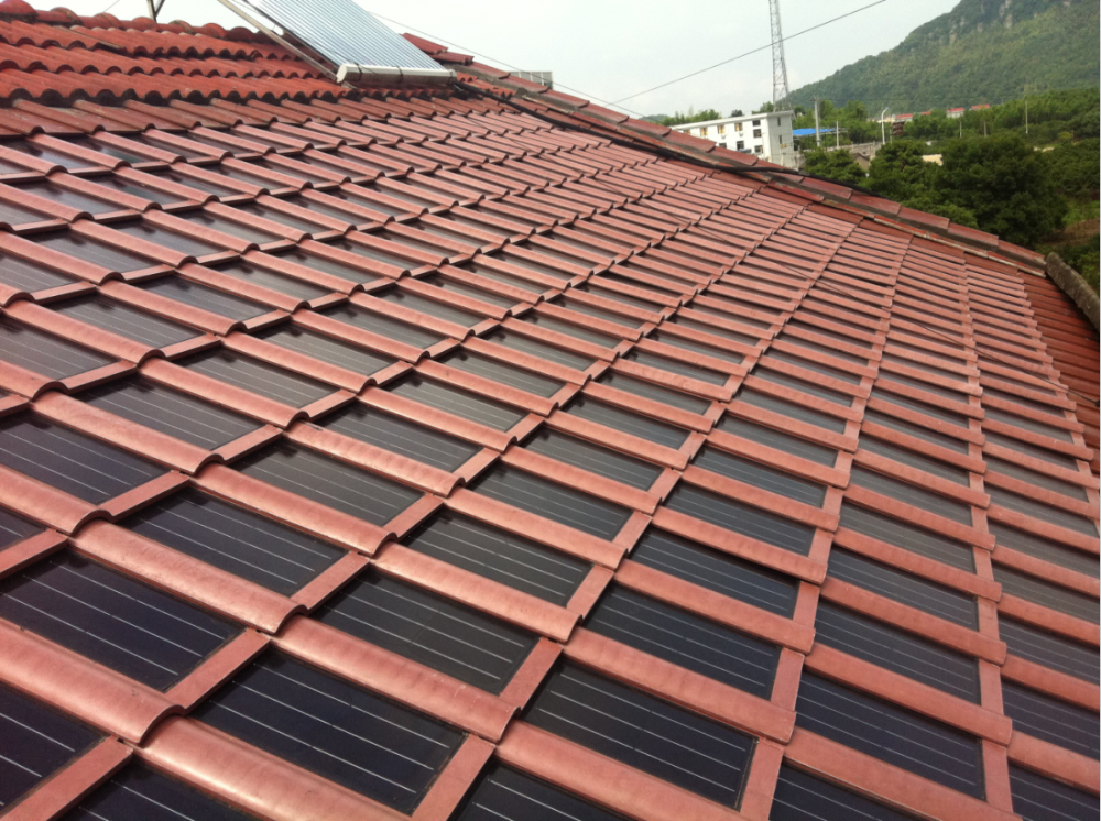 8w Solar Roof Tile Photovoltaic Tile For Solar System