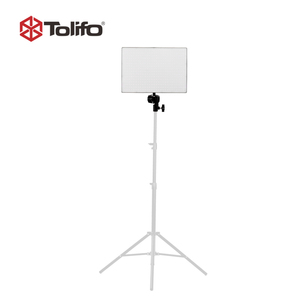 China Manufacturer Tolifo Bi Color Led Battery Powered Photography Lights Led Video Light Panel with LED Display and Bluetooth