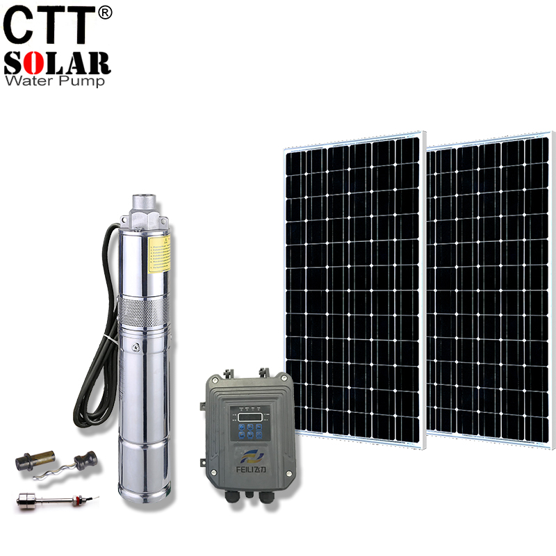 304 stainless steel solar dc water pump solar irrigation pump submersible solar powered water pump