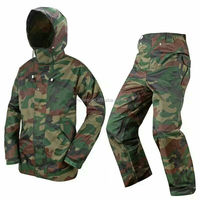 mens camouflage waterproof jacket and trousers camo rain gear