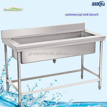 Ss Large Sink Large Size Kitchen Stainless Steel Work Table With - Large stainless steel work table