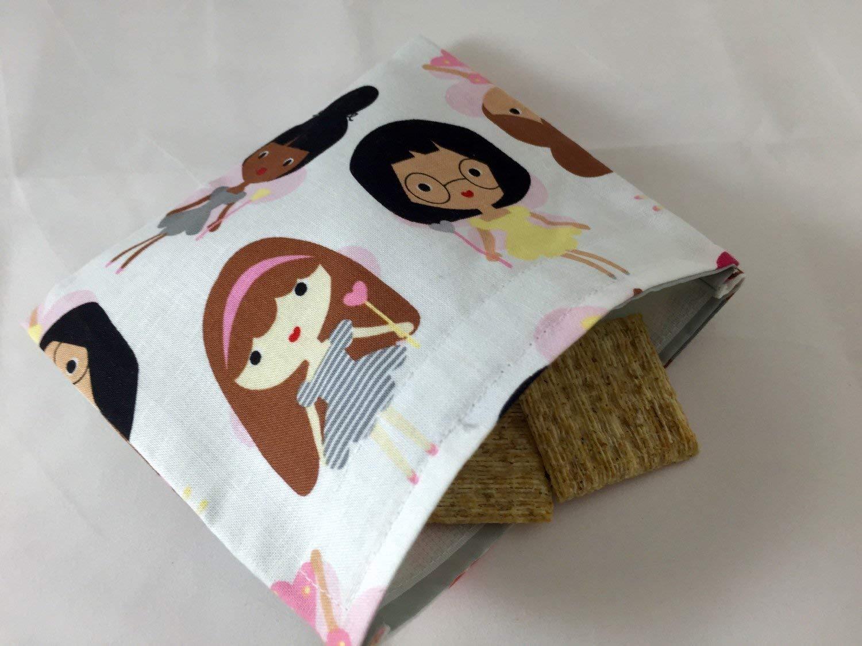 Reusable Snack Bag Eco Friendly - Girlfriend Fairies