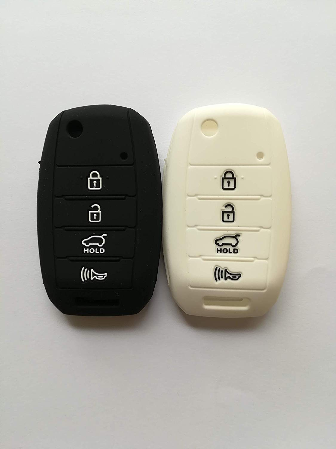 Qty(2) Key Cover Sleeve for 2013 2016 2014 2015 KIA Sorento Carens Forte Rio Soul Optima Sportage Remote Key Holder Protector Fob Skin Key Cover Keyless Gift TQ8-RKE-3F05