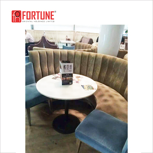 Merveilleux Restaurant Half Round Booth Furniture Booth Seating(FOH CK30)