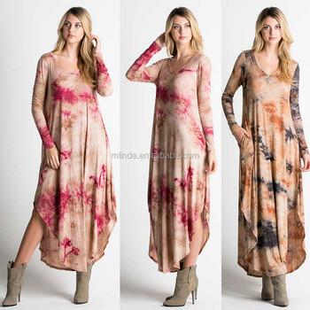 Evening Dress 2017 Long Sleeves Rayon Spandex Blend Jersey Knit V
