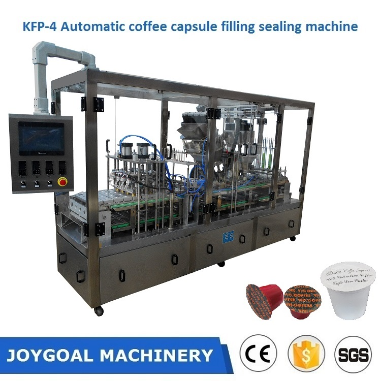 Shanghai Joygoal automatic k cup coffee capsule filling sealing making machine