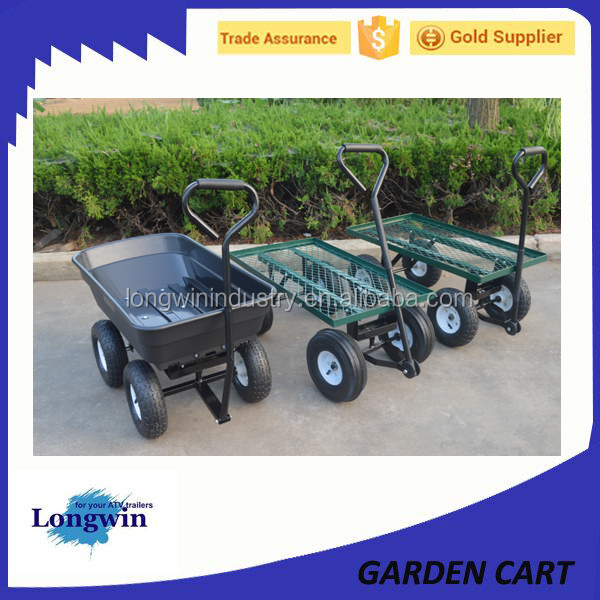 4 Wheel dump utility yard garden cart