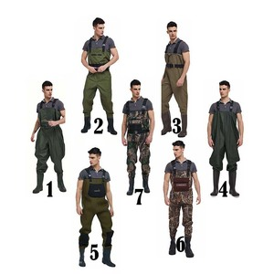 wholesale manufacturers men kids camo neoprene 70d nylon fly fishing waterproof pvc waist high chest hunting waders