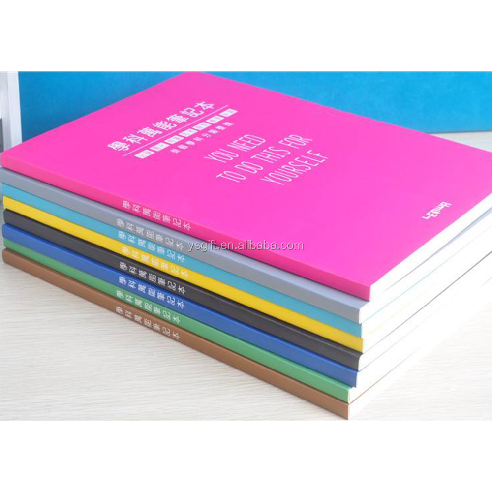 Personalized A5 Size High Quality Colorful Lay Flat Note <strong>Book</strong> for School