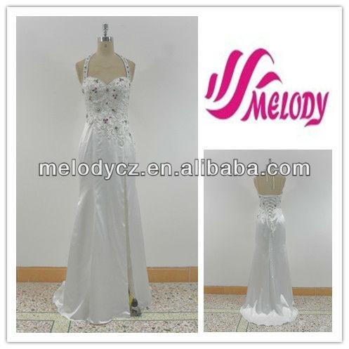 d5ab697115b8e66 белого атласа вышивкой цветка с цветные камни вечернее платье мода вышивка  цветок на шнурок
