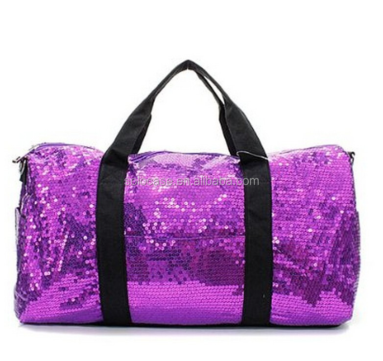 Adorable 2 Tone Sequin Cheer Dance Yoga Y Duffle Bag