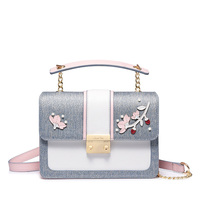2018 New Fashion Small Handbag for Girls Korean Style Messenger Bag with Chain Candy Colors Shoulder Bag for Lady
