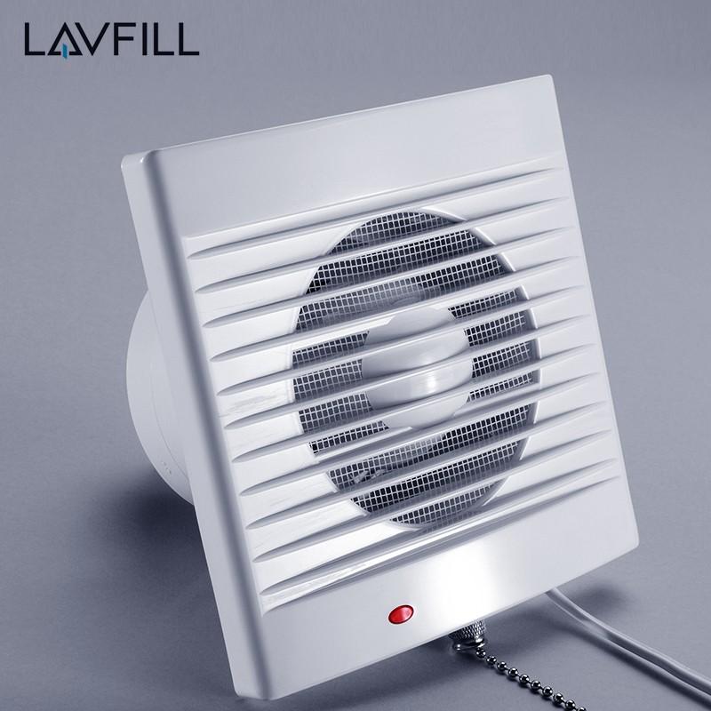 4 Inch Wall Mounted Exhaust Fan Bathroom Timer Ventilation Small Fans Window