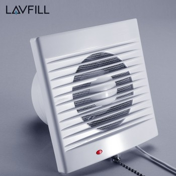 4 Inch Wall Mounted Exhaust Fan Bathroom Fan Timer Exhaust Ventilation Fan  Timer