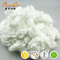 7D*64mm Solid white recycled polyester fiber /15DX64MM recycled hollow conjugated siliconized polyester staple fiber for filling