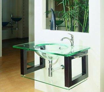 Modern Glass Bathroom Vanity Units