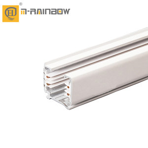 1m 2m 3m white and black track lighting system 3 phase 4 wires led track rail and accessories for track light