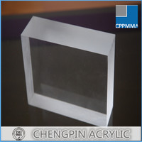 local material clear thick 22mm acrylic sheet