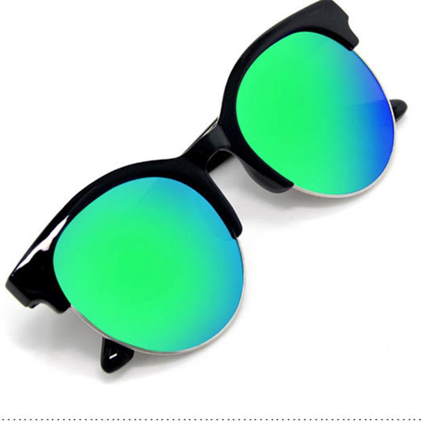 a77ae15e0b Buy ot Retro Cat Eye round circle Design Sunglasses men Half Frame green  gold pink multi Sunglasses women brand designer glasses in Cheap Price on  ...