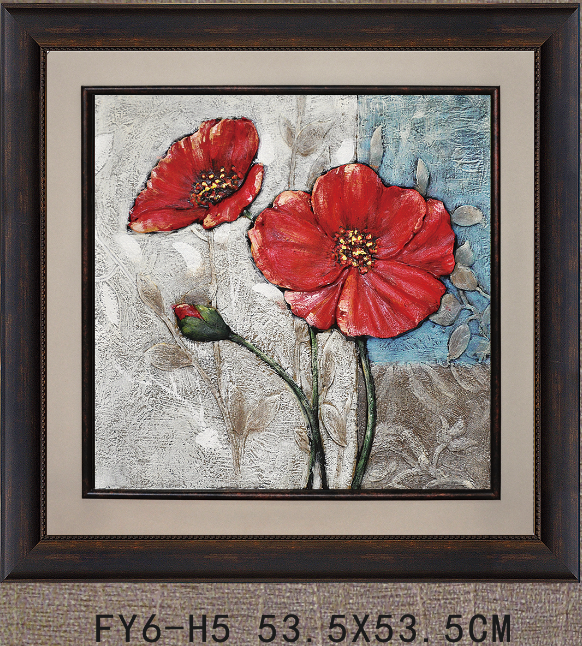 FY6-H5 3D printed flower painting wall pictures for living room