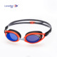 Mirrored coating anti fog pc lens silicone advanced swimming training glasses