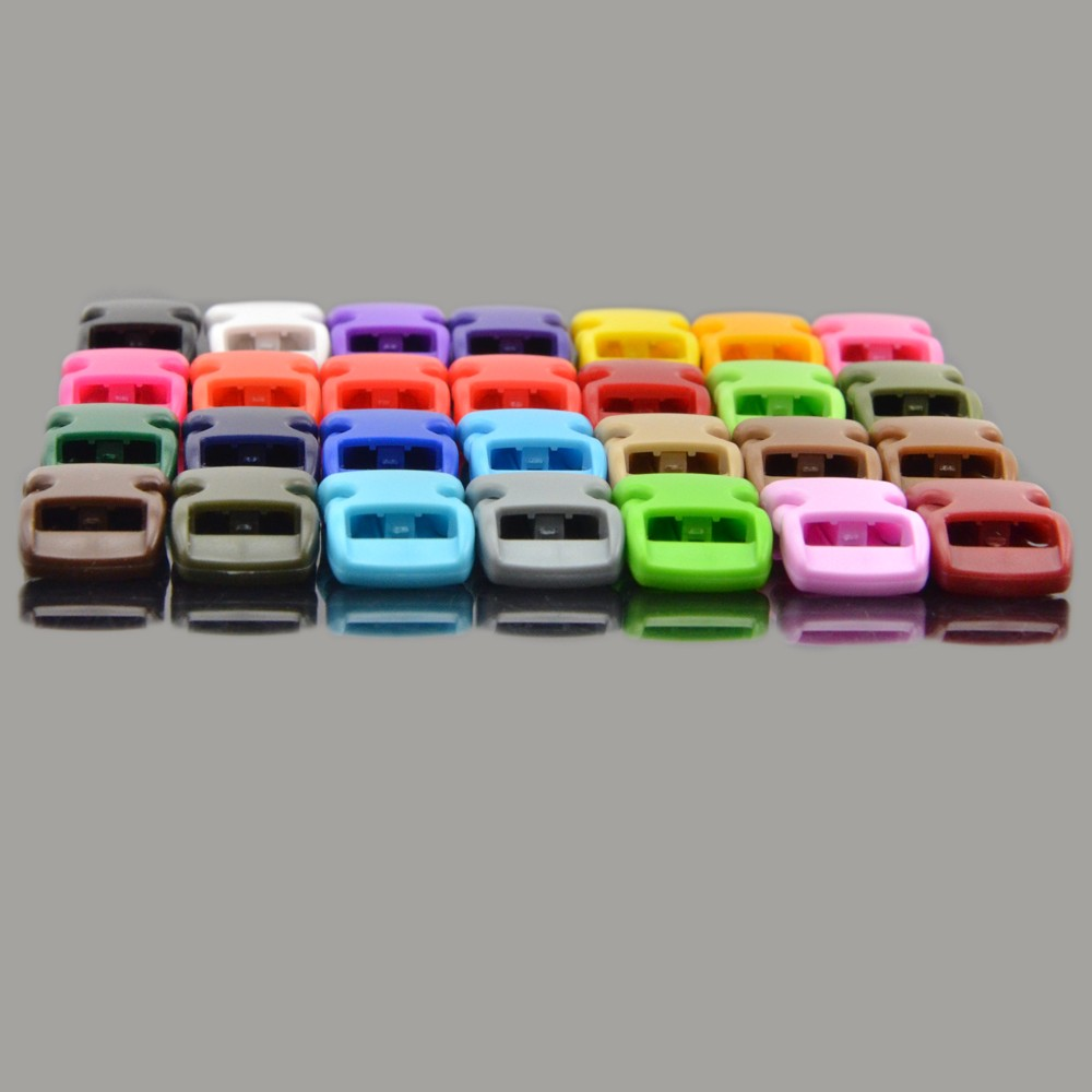 "3/8"" Webbing Colorful Curve Contoured Side Release Buckle Plastic Buckle for Paracord Bracelet"