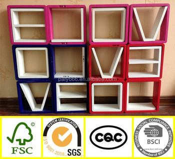 Creative mini furniture modern design wooden wall love for Furniture 6 letters