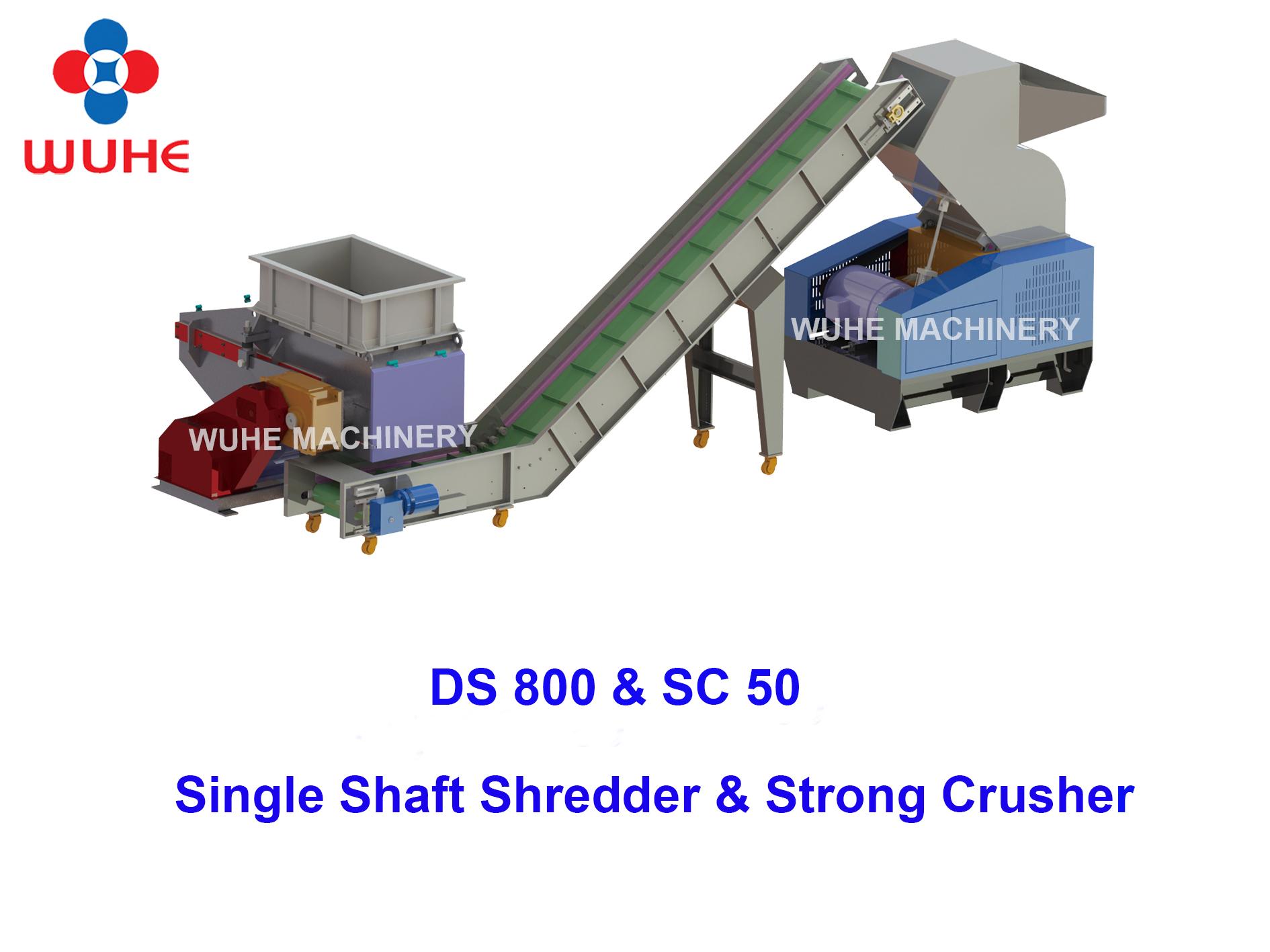 China goede prestaties plastic shredder crusher documenten bladen met hoge efficiënte