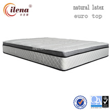 Super soft euro top latex foam pocket spring mattress