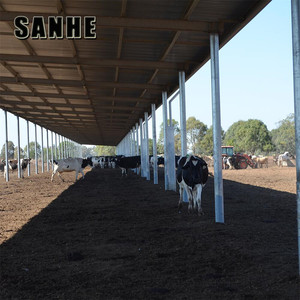 Galvanized Frame Building Quick Build Prefab Houses Fabric Cow Barns
