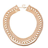 N218 New Style Accepted Layers Necklace Gold Jewelry