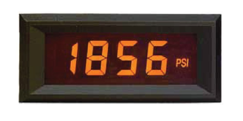 Open Source Meter OSMLP-3EAN Miniature Digital Panel Meter AMBER NEG Backlight 3 1/2 Digit LCD Display 4-20mA Loop Powered Eng Units °F °C PSI % Decimal Points 3 Position Adjustable Span and Offset