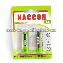 NiMH AA 2500mAh Rechargeable Battery 1.2V batteries