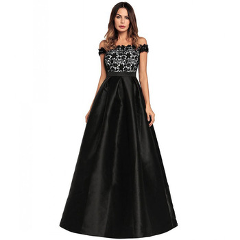 Women Dresses Casual Dress Apparel Clothes Black Evening Dress Long ...