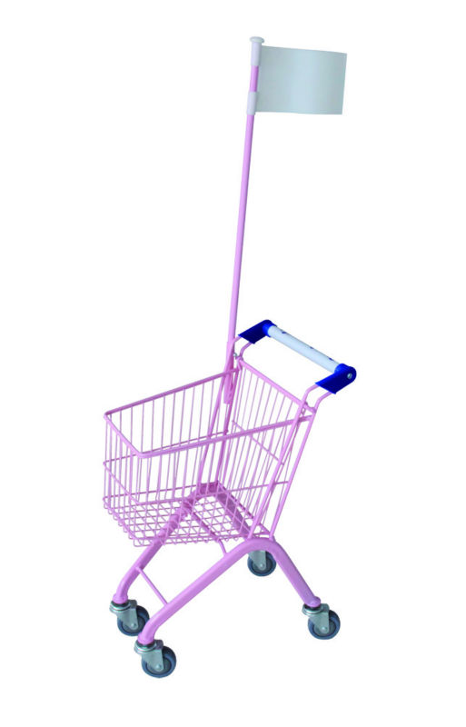 metal mini kids shopping cart 20L with size 455*320*670MM