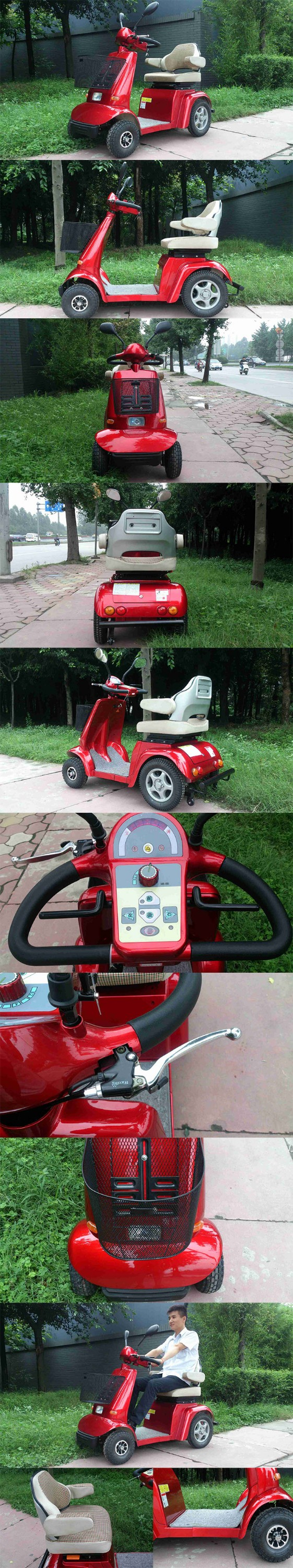 Powered electric mobility motorized scooter for the aged for Motorized scooters for the elderly
