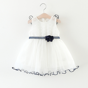 Cotton new frock design white dress with wings 3 year old girl