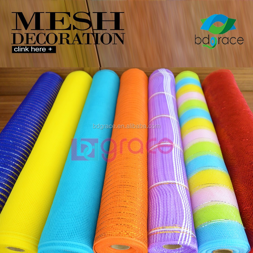 China Supplies Deco Mesh For Flower Arranging Wrapping