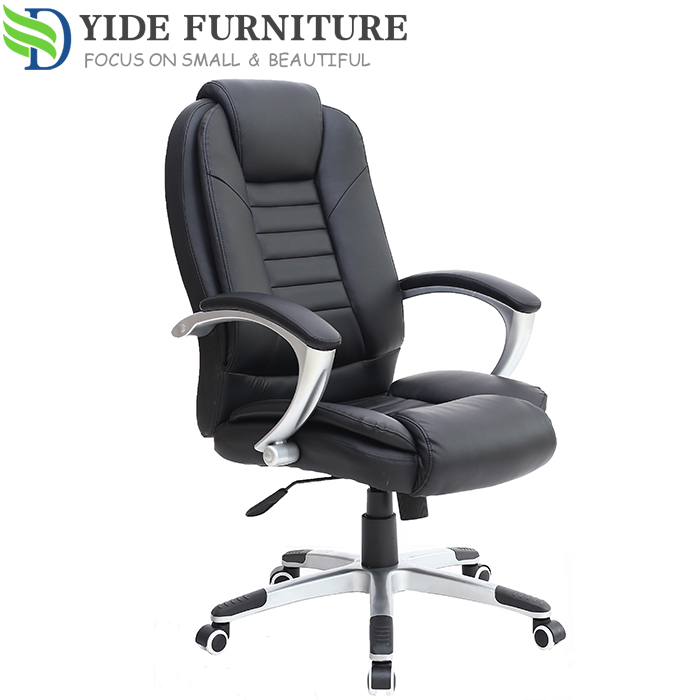 True Seating Concepts Leather Executive Brown Office Chair For Meeting Room