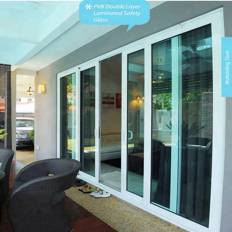 wanjia wholesale pvc stacking sliding glass <strong>doors</strong>