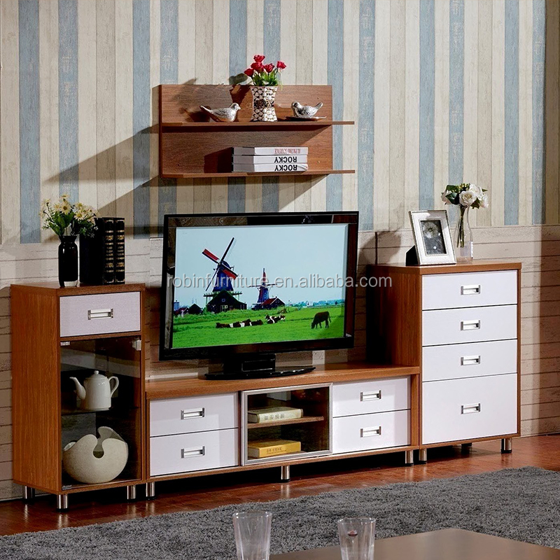 Factory wholesale lcd tv stand table white tv set furniture