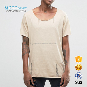 MGOO OEM Services 100% Pima Cotton Basic Tee Shirts Short Sleeves Gym Shirts Men Fitness Loose Style