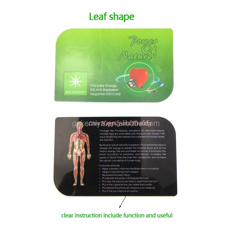 Bio Quantum Science Energy Card/ Fir Energy Card/ Oem ...