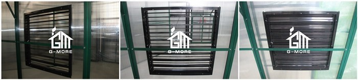 G-MORE Extra Ventilation Manual Aluminium Louvres